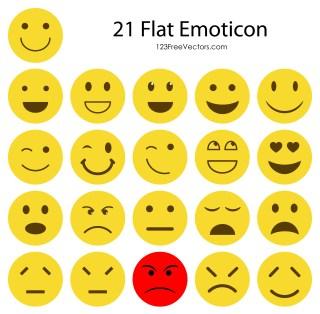 Flat Emoji Icons