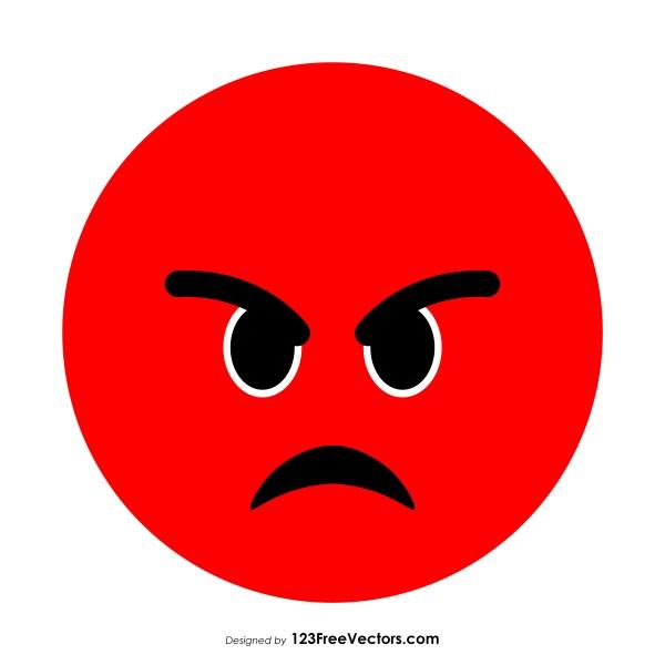Pouting Face Emoji Vector Free