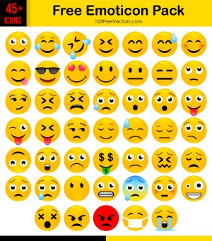 Free Emoticon Icons Pack Download