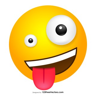 Crazy Emoticon Clipart