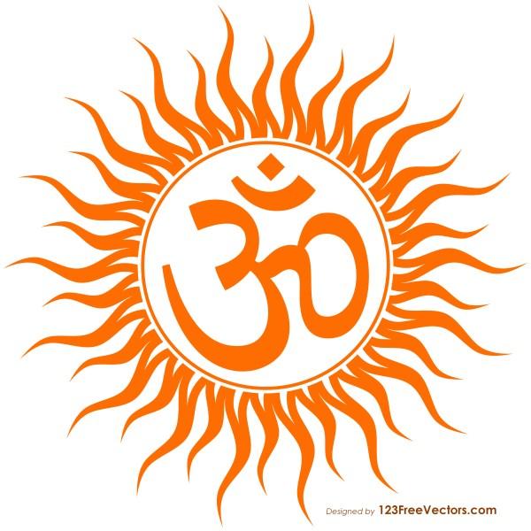 Aum Sun Symbol Image