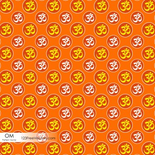 Hindu Om Symbol Pattern Background