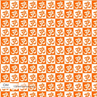Om Symbol Seamless Pattern