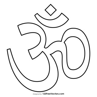 Printable Aum Symbol