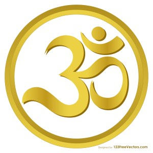 Gold Aum or Om Symbol Image