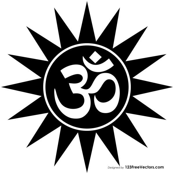 Om with Star Vector
