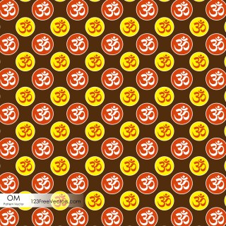 Aum Symbol Seamless Pattern Design