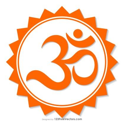 Orange Om Symbol