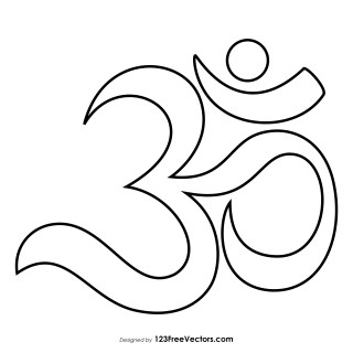Om Sign Outline