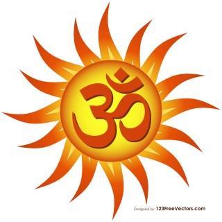 Om Sun Symbol