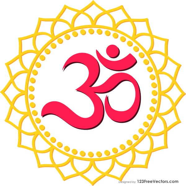 Aum Symbol Sticker Vector
