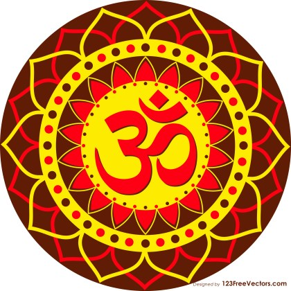 Om or Aum Symbol Decorative Ornament Sticker