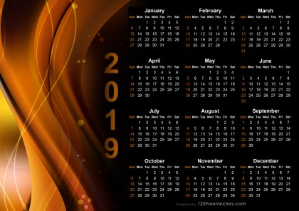 Calendar 2019 Design Templates Free Download
