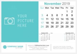 November 2019 Desk Calendar