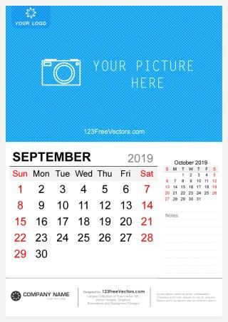 Wall Calendar September 2019