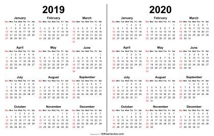 2019 2020 Calendar