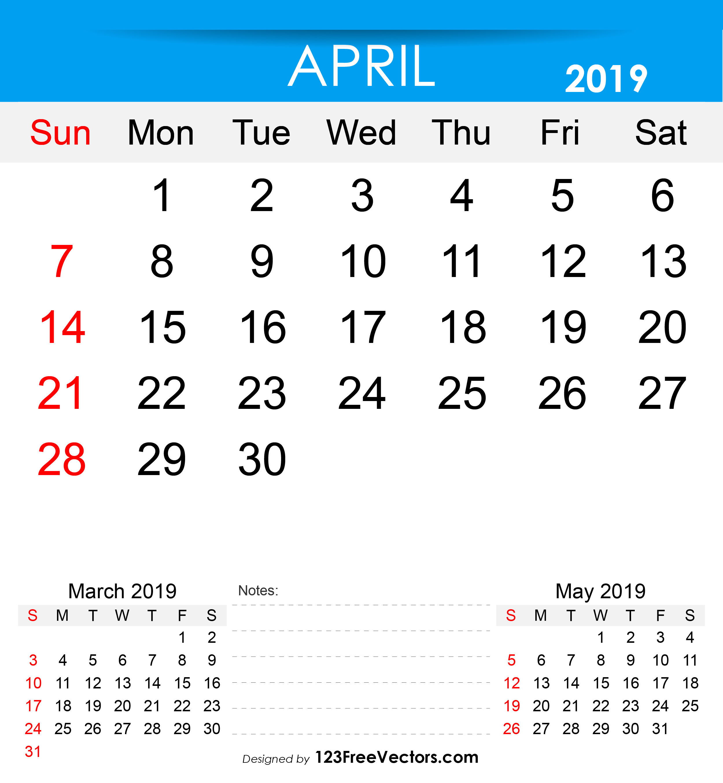 graphic relating to Free Printable April Calendar named No cost Printable April 2019 Calendar