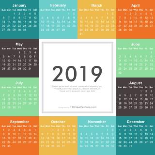 2019 Calendar Illustrator