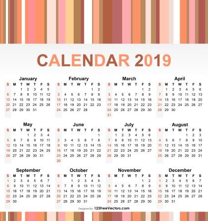 2019 Calendar Pdf Download
