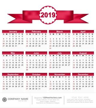 Calendar 2019 Pdf