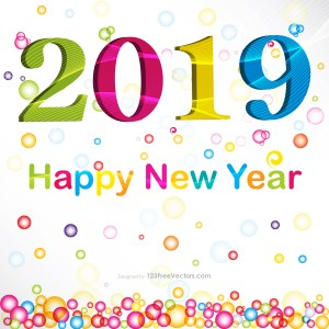 New Year Card Design 2019