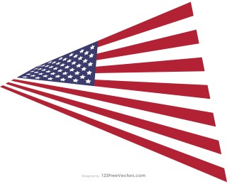 Perspective USA Flag Free Vector