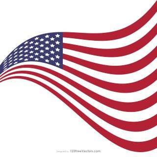 Waving American Flag Illustrator
