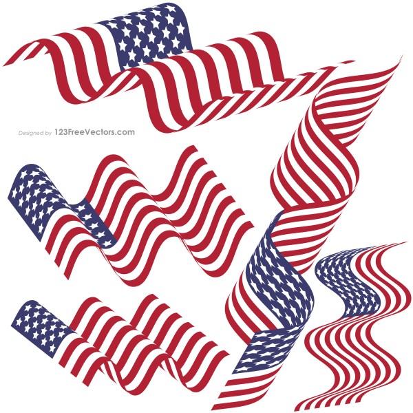 Waving American Flag Clip Art