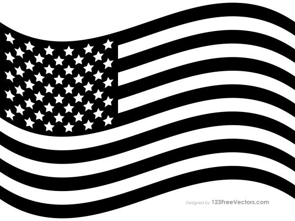 Black US Flag