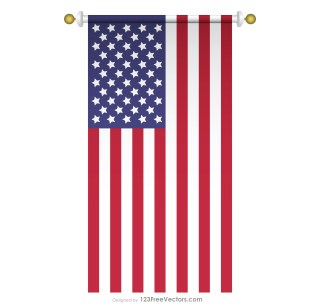 Vertical American Flag