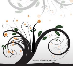 Ornament Tree Vector