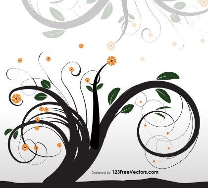 Ornament Tree Vector