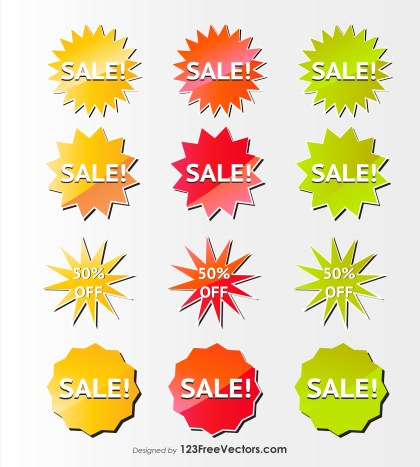 Sale Badges Vector