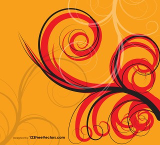 Floral Swirls Background