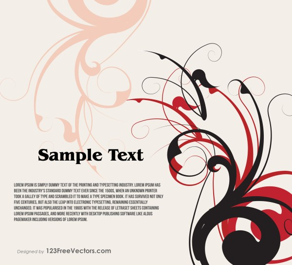 Floral Swirl Text Banner