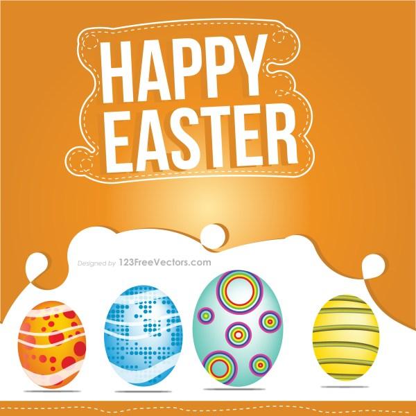 Easter Eggs Card Vector