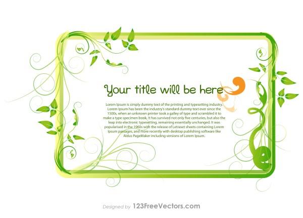 Green Leaf Banner