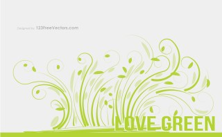 Love Green Vector Graphic