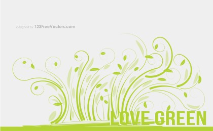 Love Green Vector Graphic