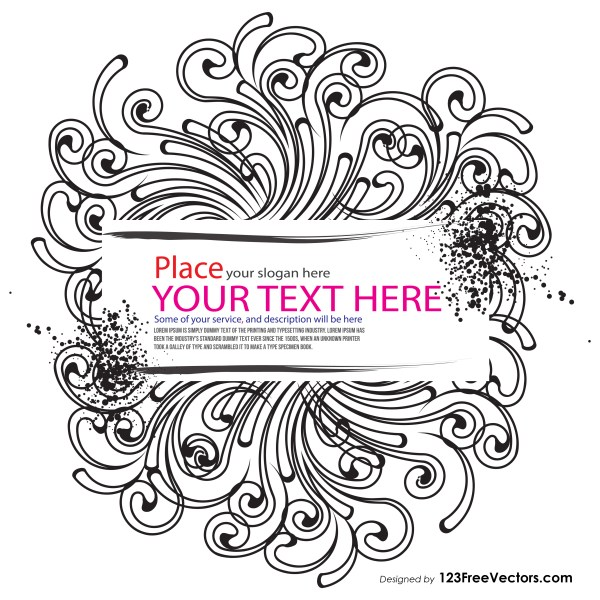 Floral Text Banner