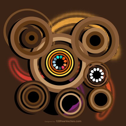 Brown Circle Vector Background