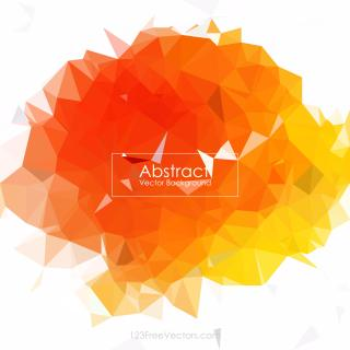 Red Yellow Geometric Polygon Background Image