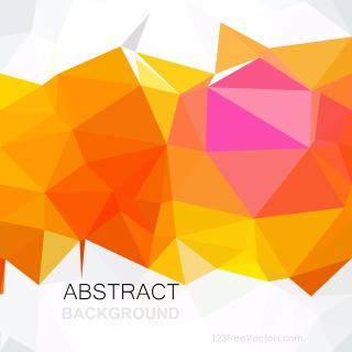 Red Yellow Geometric Polygon Background Clip Art