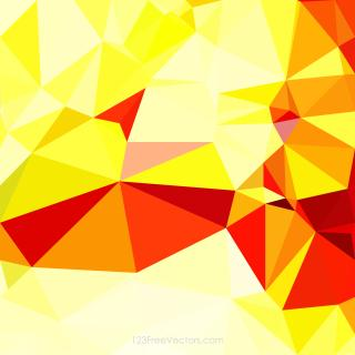 Abstract Red Yellow Geometric Polygon Background