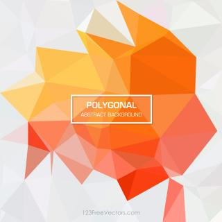 Red Yellow Abstract Geometric Polygon Background Vector