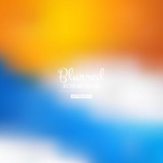 Blurred Blue Orange Background