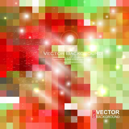 Colorful Abstract Square Background Vector Template