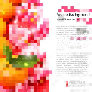 Colorful Geometric Square Background Free Clip Art