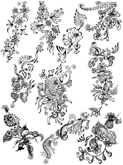 Sketchy Decorative Elements Vector and Photoshop Brush Pack-01