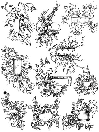 Sketchy Decorative Elements Vector and Photoshop Brush Pack-03